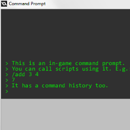 Text input and command prompt in GameMaker: Studio